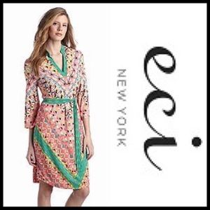 ▪️Beige by ECI Coral Geometric Dress